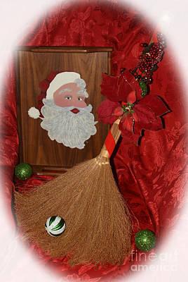 Christmas Holiday Scenery Photograph - Vintage Santa by Christal Randolph