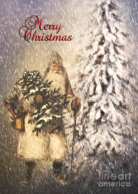 Photograph - Vintage Santa  by Pam  Holdsworth