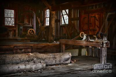 Vintage Sawmill  Print by Paul Ward