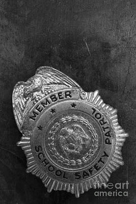 Photograph - Vintage School Safety Patrol Badge by Edward Fielding