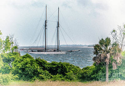 Photograph - Vintage Schooner by Dale Powell