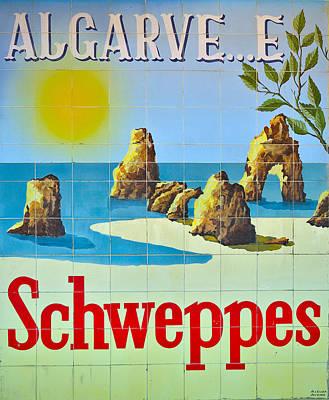 Vintage Schweppes Algarve Mosaic Art Print by Angelo DeVal