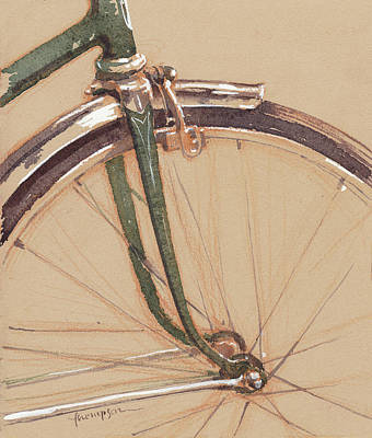Bicycle Drawing - Vintage Schwinn by Tracie Thompson