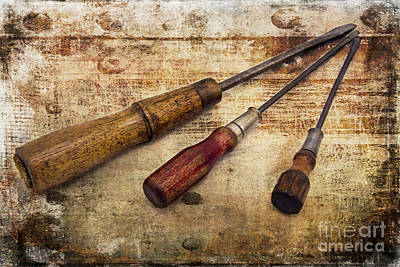 Photograph - Vintage Screwdrivers by Cindi Ressler