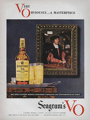 Seagram Mixed Media - Vintage Seagrams Vo Ad by James Smullins