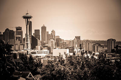 Photograph - Vintage Seattle And Space Needle by Anthony Doudt