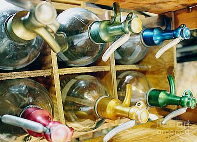 Photograph - Vintage Seltzer Bottles by Nina Silver