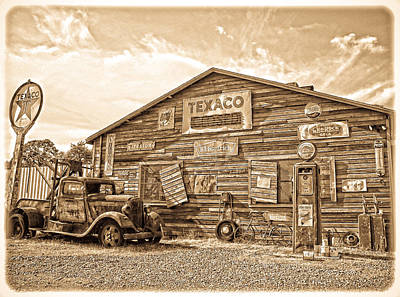 Wrecking Yard Photograph - Vintage Service Station by Steve McKinzie