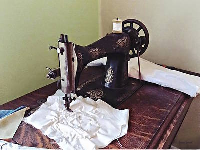 Photograph - Vintage Sewing Machine Circa 1900 by Susan Savad