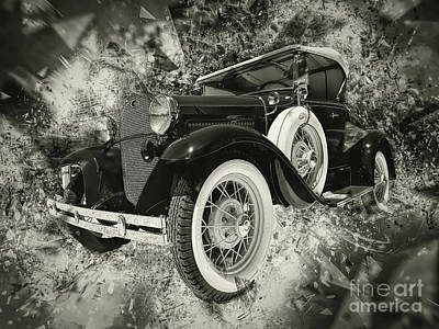 Photograph - Vintage Shebang Bw by Jack Torcello