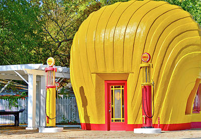 Photograph - Vintage Shell Station by Ben Prepelka