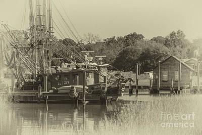 Photograph - Vintage Shem Creek by Dale Powell