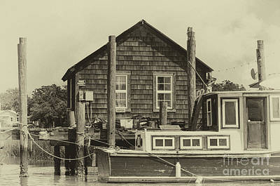 Photograph - Vintage Shem Creek Dockside by Dale Powell