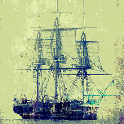 Pirate Ship Mixed Media - Vintage Ship V1 by Brandi Fitzgerald