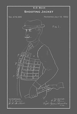 Drawing - Vintage Shooting Jacket Patent by Vintage Pix