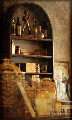 Digital Art - Vintage Shop Shelves by Liz Alderdice
