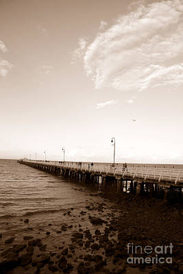 Brisbane Photograph - Vintage Shorncliffe Pier by Jorgo Photography - Wall Art Gallery