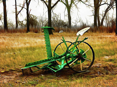 Digital Art - Vintage Sickle Bar Mower by Leslie Montgomery