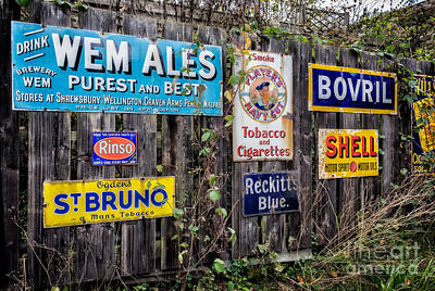 Enamel Photograph - Vintage Signs by Adrian Evans