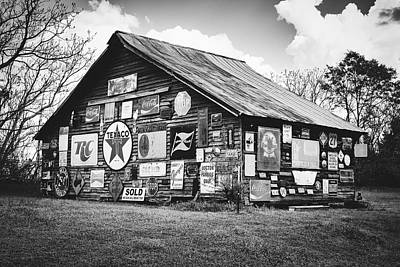 Hobbies And Collections - Art And Photograph - Vintage Signs On Old Barn by Library Of Congress