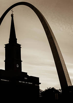 Photograph - Vintage Silhouettes Of Saint Louis - Sepia by Gregory Ballos