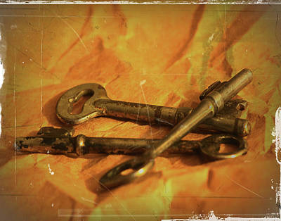 Photograph - Vintage Skeleton Keys by Scott Cordell