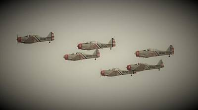 Photograph - Vintage Skytypers by Karen Silvestri