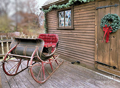 Photograph - Vintage Sleigh by Janice Drew