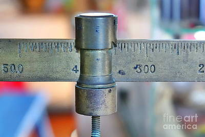 Photograph - Vintage Sliding Balance Scale by Yali Shi