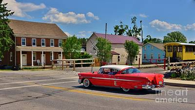 Photograph - Vintage Small Town Scene Panorama by Bob Sample