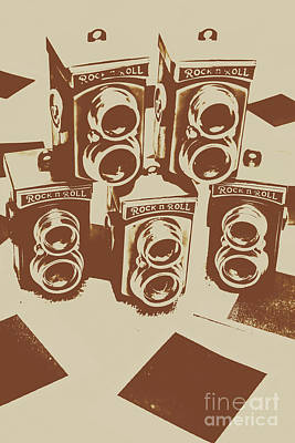 Vintage Snapshots And Old Cameras Art Print