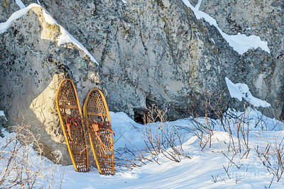 Photograph - Vintage Snowshoes And Rocks by Marek Uliasz
