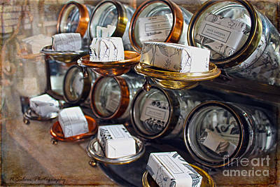 Photograph - Vintage Soap Display by Nina Silver