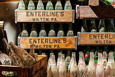 Photograph - Vintage Soda Bottles In Crates by SR Green