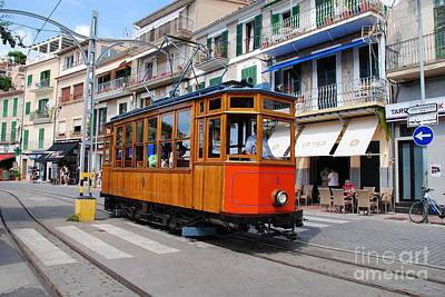 Photograph - Vintage Soller Tram In Majorca by David Fowler