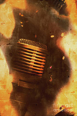 Mic Photograph - Vintage Sound Check by Jorgo Photography - Wall Art Gallery