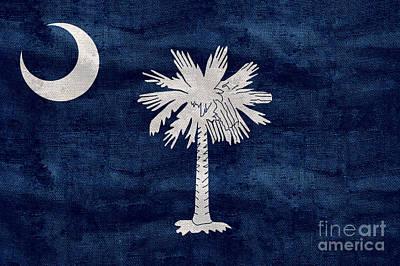 Old South Photograph - Vintage South Carolina Flag by Jon Neidert