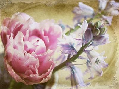 Purple Flowers Digital Art - Vintage Spring by Cathie Tyler