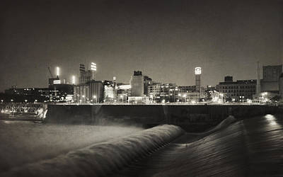 Photograph - Vintage St. Anthony Falls by Heidi Hermes