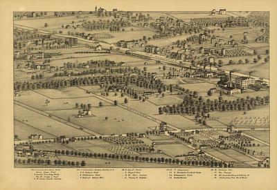 Vintage St Louis Map - 1875 Art Print