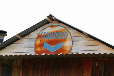 Message Art Photograph - Vintage Standard Oil Sign by Art Block Collections