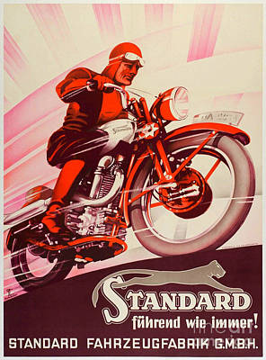 Standard Tshirts Painting - Vintage Standard Poster by Pd