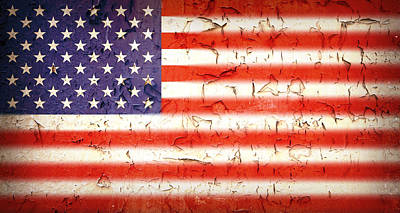 Usa Photograph - Vintage Stars And Stripes by Jane Rix