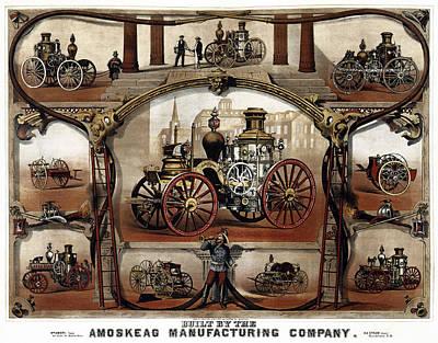 Vintage Steam Fire Engine Catalog C. 1885 Art Print