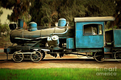 Photograph - Vintage Steam Locomotive 5d29167brun by Home Decor
