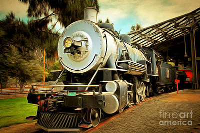 Photograph - Vintage Steam Locomotive 5d29200brun by Home Decor