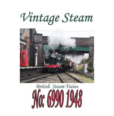Photograph - Vintage Steam Railway Train Engine Number 6990  by Tom Conway