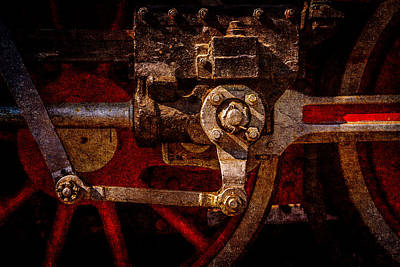 Vintage Steam Train Drives Art Print