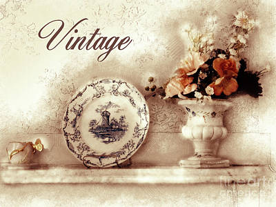 Digital Art - Vintage Still Life by Methune Hively