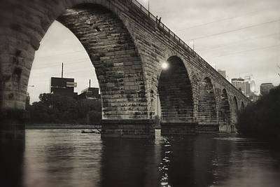 Photograph - Vintage Stone Arch Bridge by Heidi Hermes